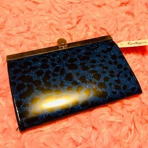 Handbags - Blue leopard print vinyl wallet